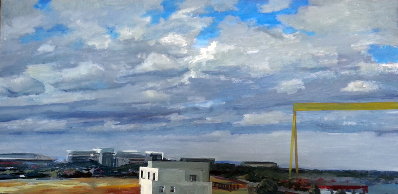 Belfast cloud study, Northern Ireland oil/canvas, 30″ X 40″, 2015