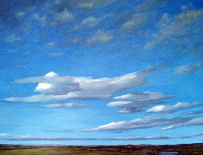 Belfast Summer, Northern Ireland  oil/canvas, 30″ X 40″, 2015
