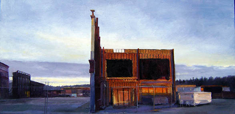 Early sun before work; derelict set  oil/canvas 2011