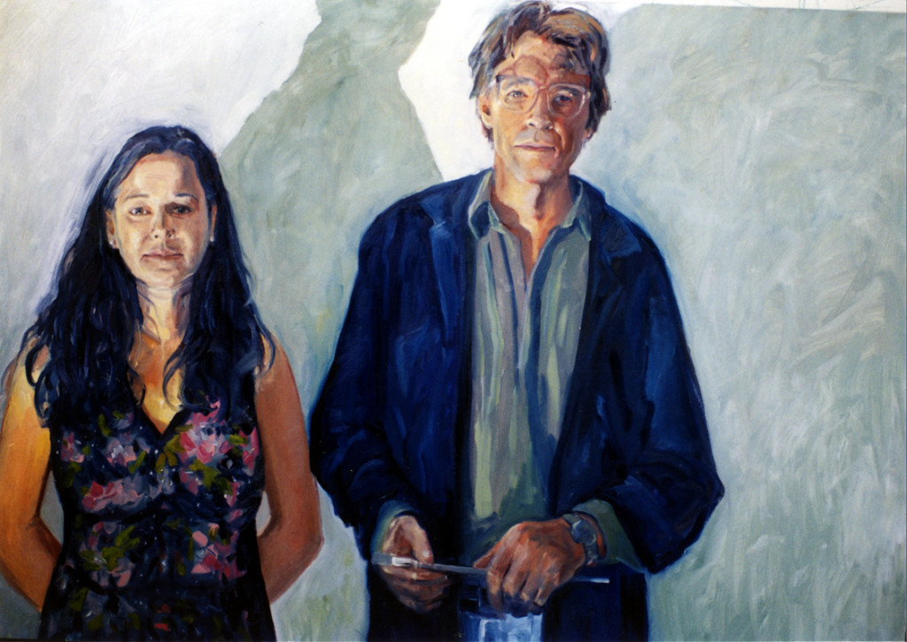 Esther Rausenberg and Richard Tetrault, artists  oil/wood panel 24″ X 36″ 1989
