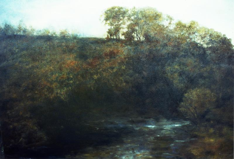 Antique style oil landscape