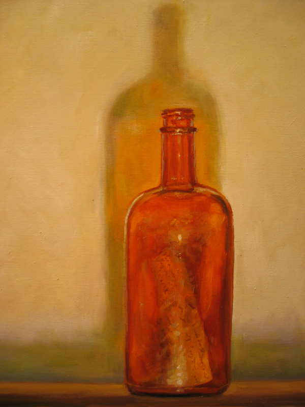 Message in a bottle  oil/canvas 20″ X 24″ 2006