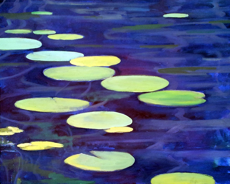 "North Lake lillies II, Canada, oil/canvas, 16"" X 20"", 2015"