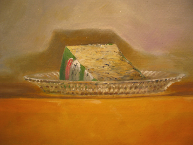 Ode to Gorgonzola  oil/canvas 20″ X 24″ 2006