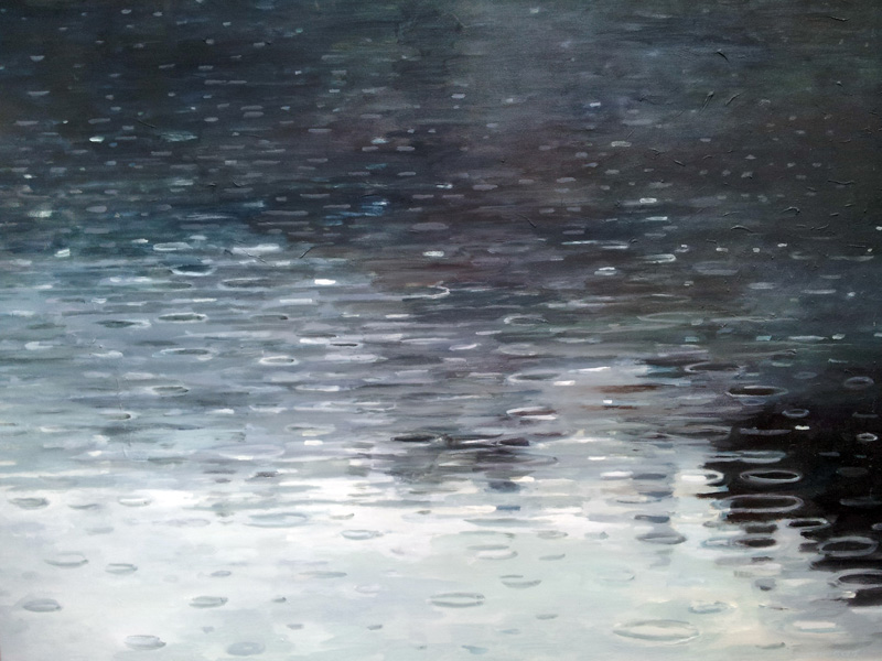 Rain, North Lake, Canada oil/canvas, 30″ X 40″, 2015