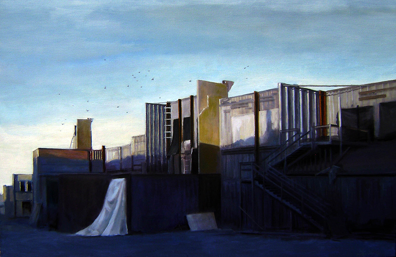 Behind the sets  oil/canvas 2011