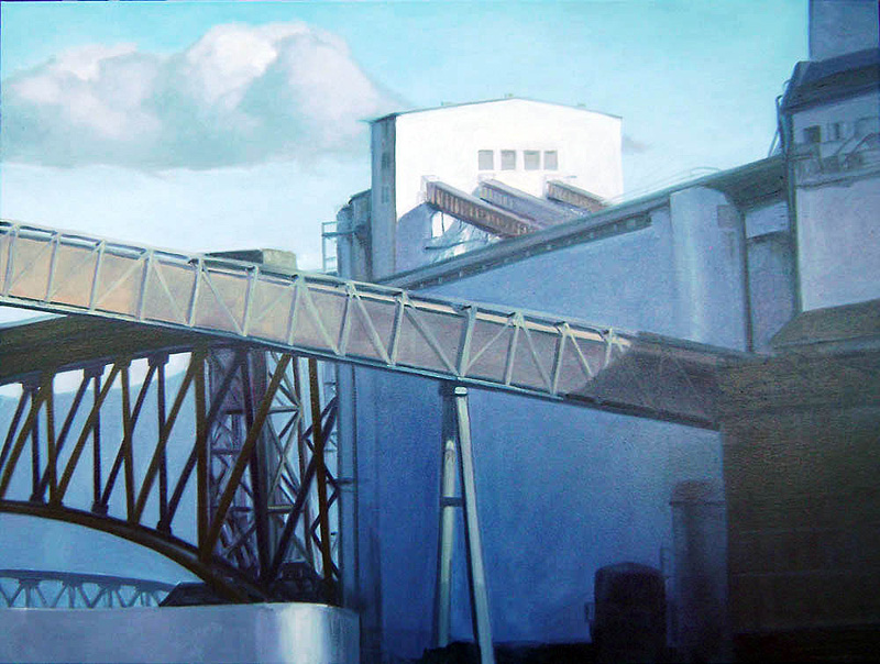Elevator in shadow  oil/canvas 30″ X 40″ 2010