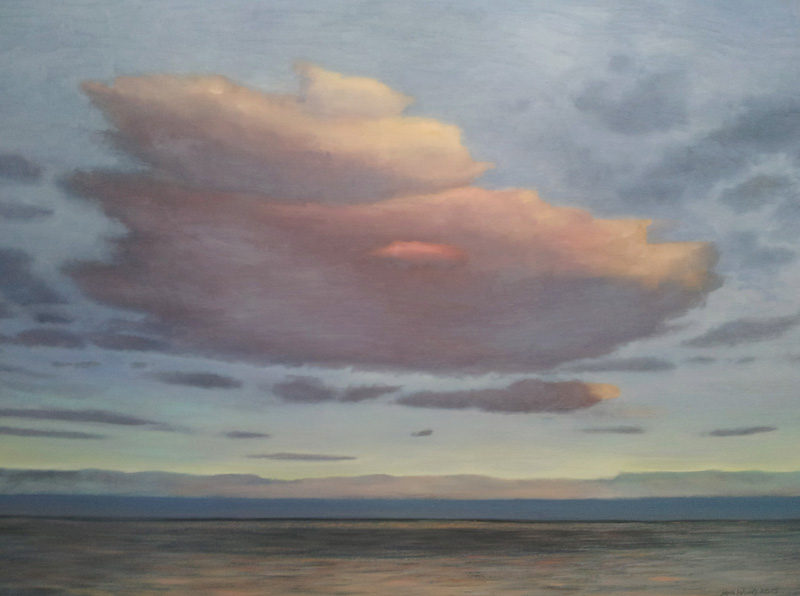"Evening cloud, Bray, Ireland  oil/canvas, 30"" X 40"", 2015"