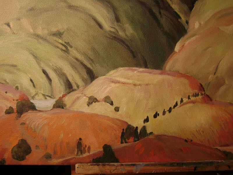 "Oil painting copy for film, ""Night at the Museum"""