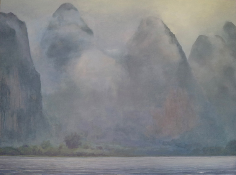 "Li River, China, oil/canvas, 30"" X 40"", 2015"