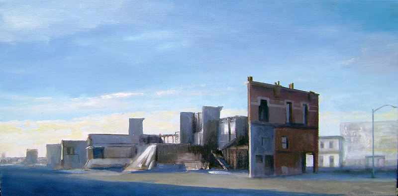 Midday, street set oil/canvas 2011