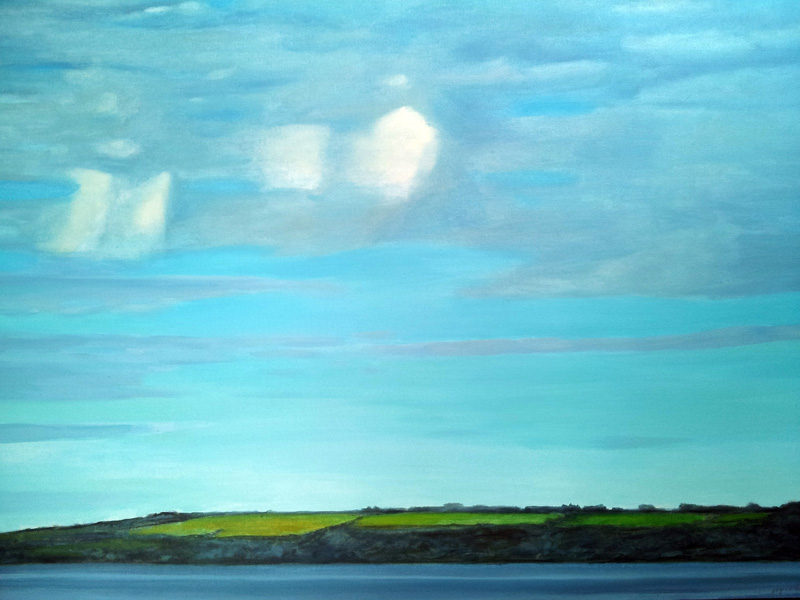 Near Magheramourne, Northern Ireland  oil/canvas, 30″ X 40″, 2015