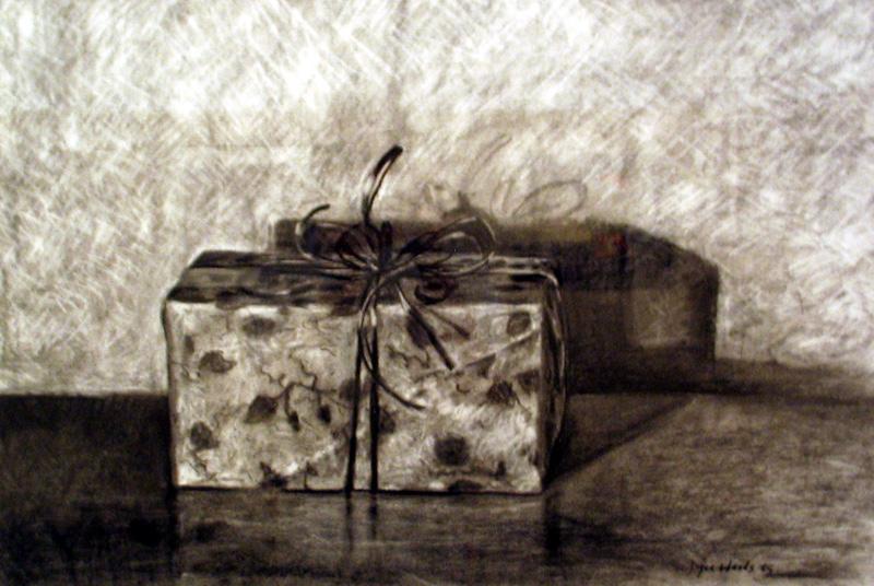 Secret  charcoal/rag paper 24″ X 30″ 2006