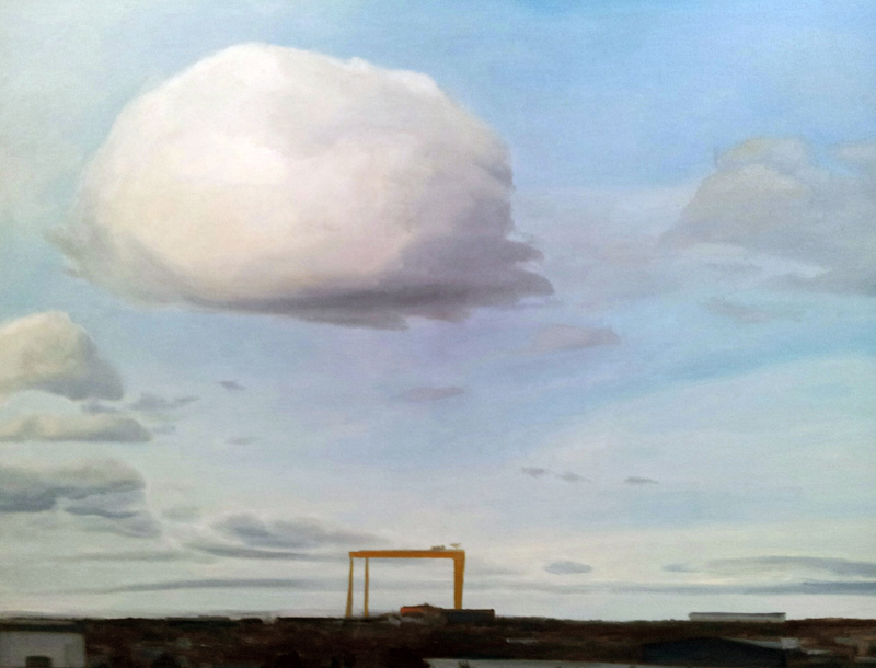 Spring cloud, Belfast, Northern Ireland  oil/canvas, 30″ X 40″, 2015